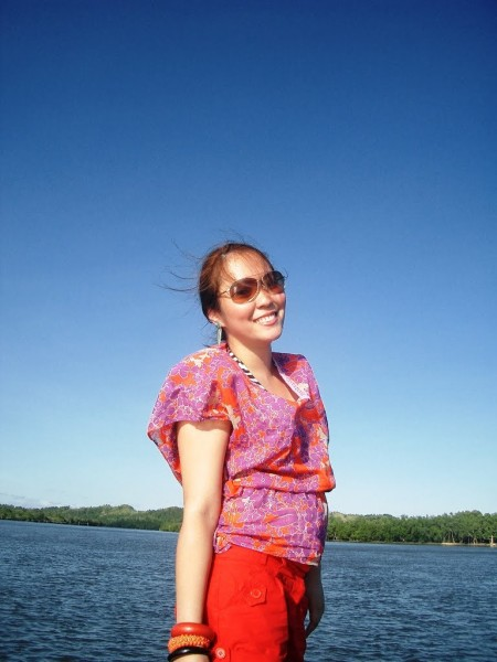 Sunset Goddess in Samar_boat prow