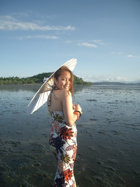 Sunset Goddess in Samar_parasol