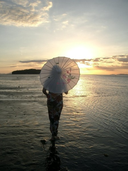 Sunset Goddess in Samar_walking into the sunset