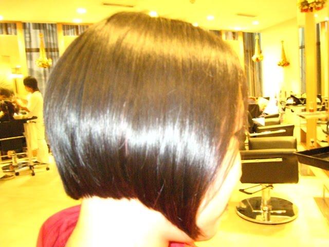 newly cut hair