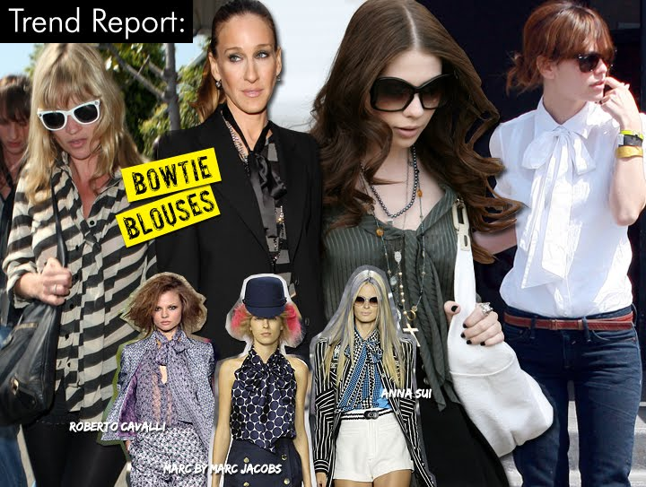 Fashion Trend Report Bow Tie Blouses