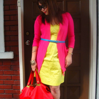 How to Wear the Summer's Bright on Bright ColorblockingTrend